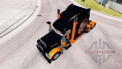 Skin Harley-Davidson for the truck Peterbilt 389 for American Truck Simulator