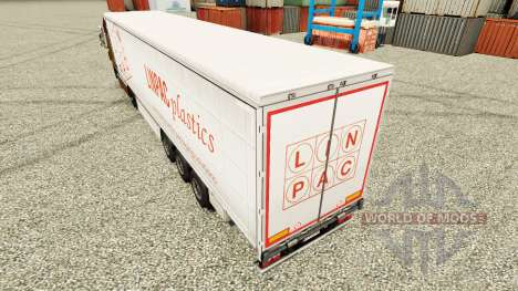 Skin Linpac Plastics for trailers for Euro Truck Simulator 2