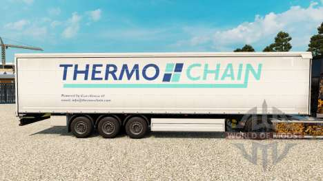 Skin Thermo Chain on a curtain semi-trailer for Euro Truck Simulator 2