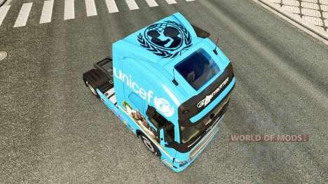 Unicef skin for Volvo truck for Euro Truck Simulator 2