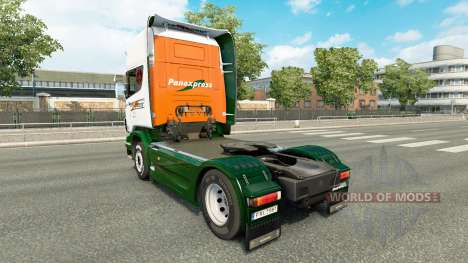 Skin Panexpress on tractor Scania for Euro Truck Simulator 2