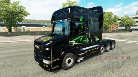 Skin Monster Energy v2 for truck Scania T for Euro Truck Simulator 2