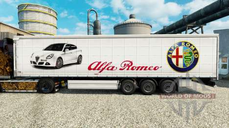 Alfa Romeo skin for trailers for Euro Truck Simulator 2