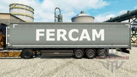 Fercam skin for trailers for Euro Truck Simulator 2