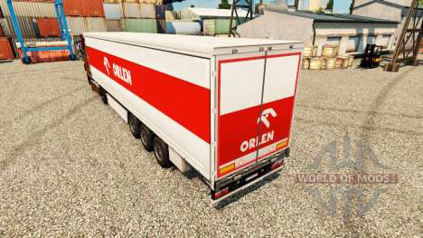 Skin Orlen for trailers for Euro Truck Simulator 2