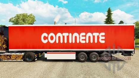 Skin Continente for trailers for Euro Truck Simulator 2