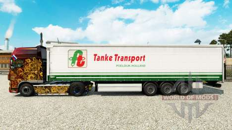 Skin Tanke Transport on semi-trailer curtain for Euro Truck Simulator 2