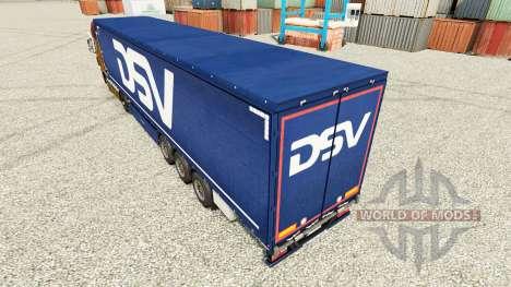 DSV skin for trailers for Euro Truck Simulator 2