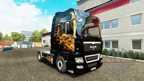 Skin Fames for tractor MAN for Euro Truck Simulator 2