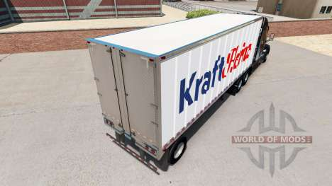 Skin Kraft Heinz on a small trailer for American Truck Simulator