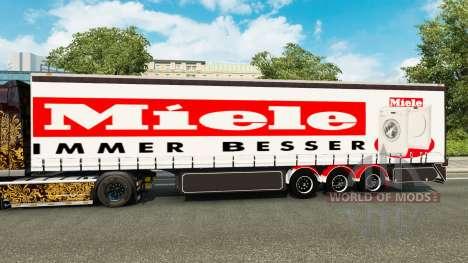 Curtain semi-trailer Miele for Euro Truck Simulator 2