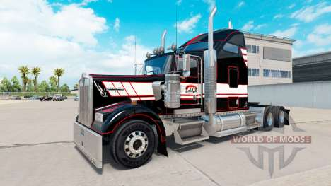 Skin on STL Linehaul Kenworth W900 tractor for American Truck Simulator