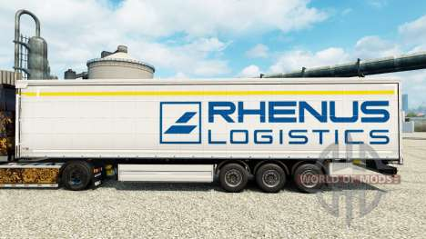 Rhenus Logistics skin for trailers for Euro Truck Simulator 2