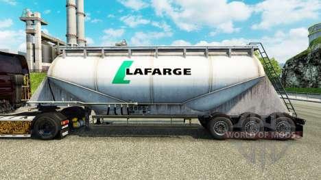 Skin Lafarge cement semi-trailer for Euro Truck Simulator 2