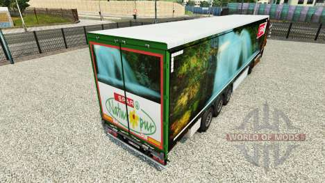 Skin Spar Natur Pur on a curtain semi-trailer for Euro Truck Simulator 2