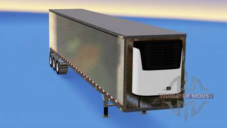 Chrome semi-refrigerated for American Truck Simulator