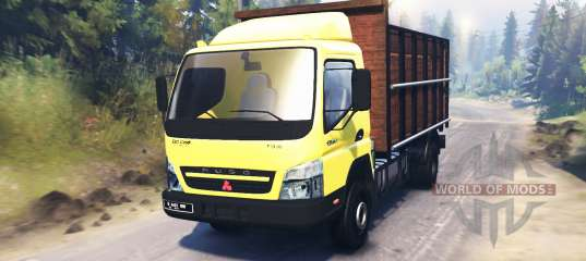Mitsubishi Fuso Canter FE7 for Spin Tires