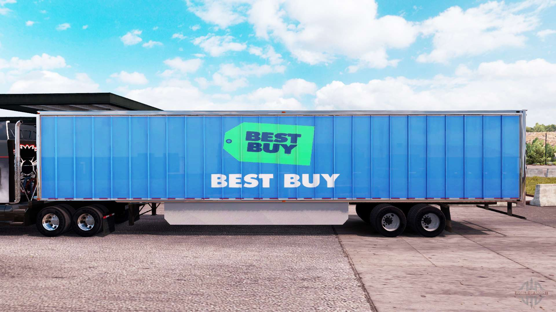 skin best buy extended trailer for american truck simulator. Black Bedroom Furniture Sets. Home Design Ideas