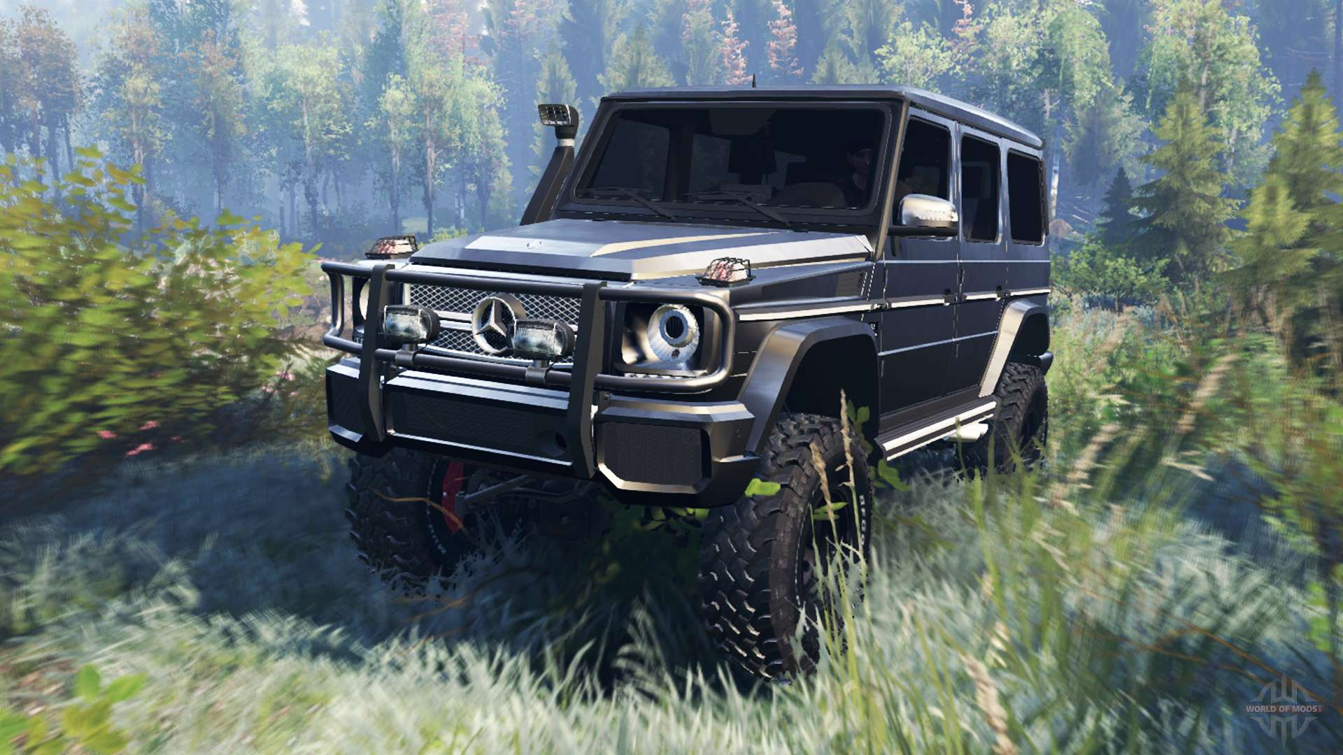 mercedes-benz g65 amg v6.0 for spin tires