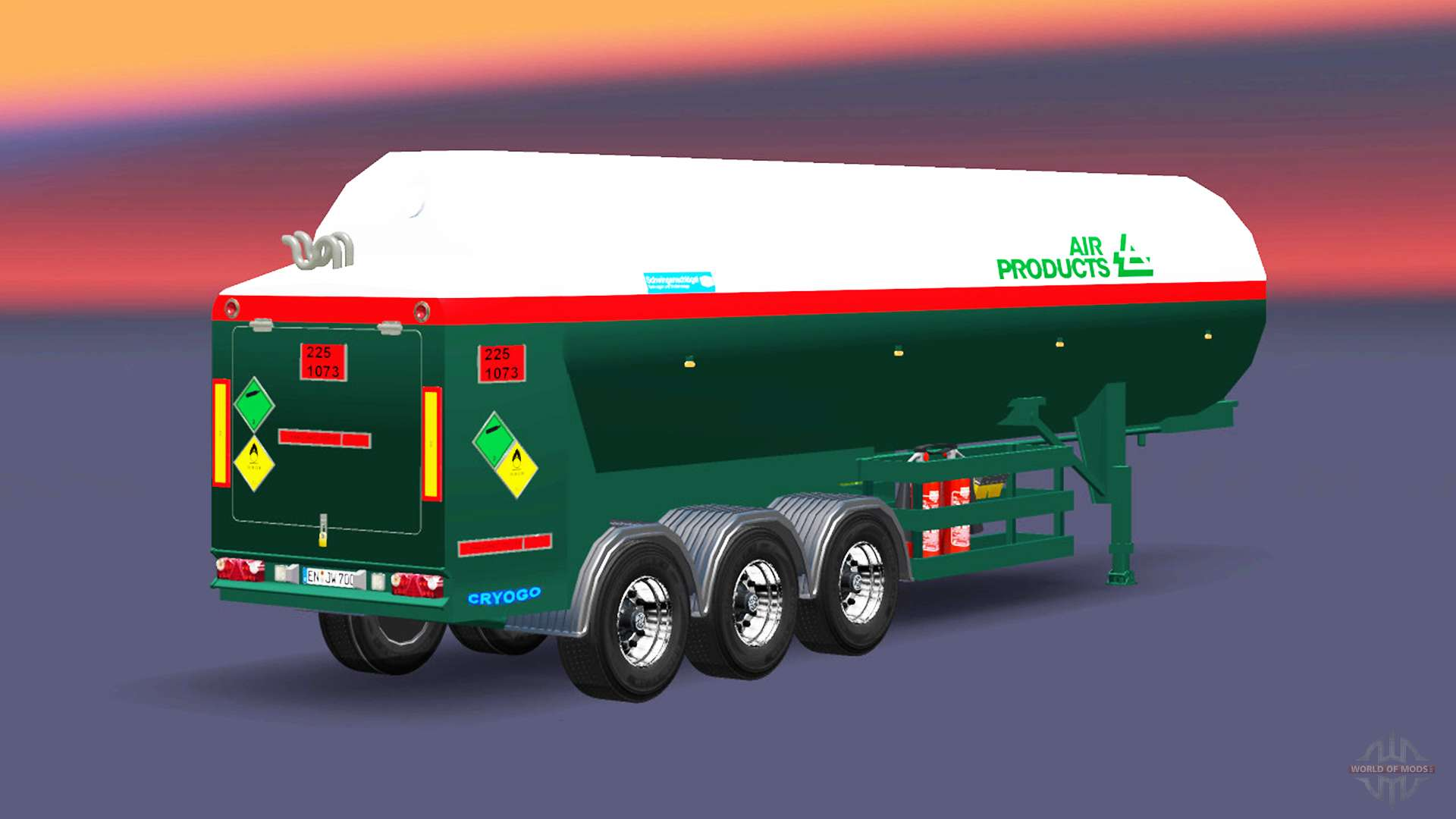 The semitrailer-tank Air Products for Euro Truck Simulator 2