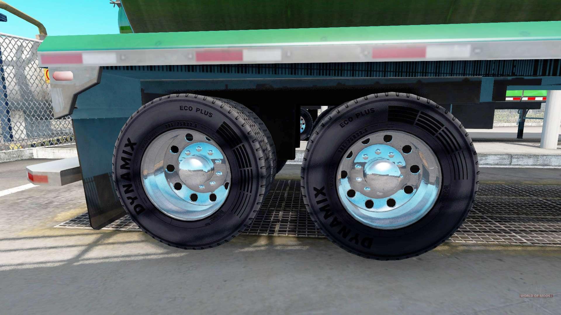 Semi Truck Mud Flaps >> Chrome plated wheel rims of semi-trailers for American Truck Simulator