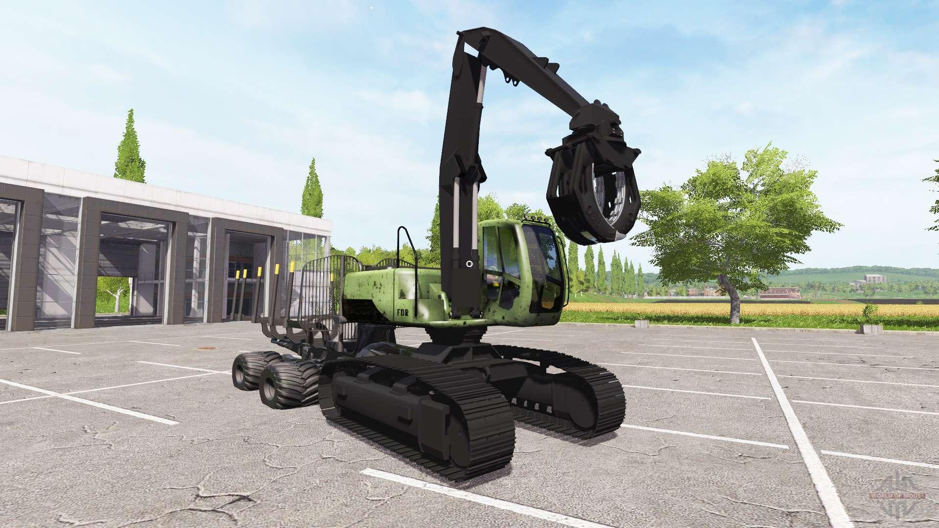 Excavator Forwarder For Farming Simulator 2017