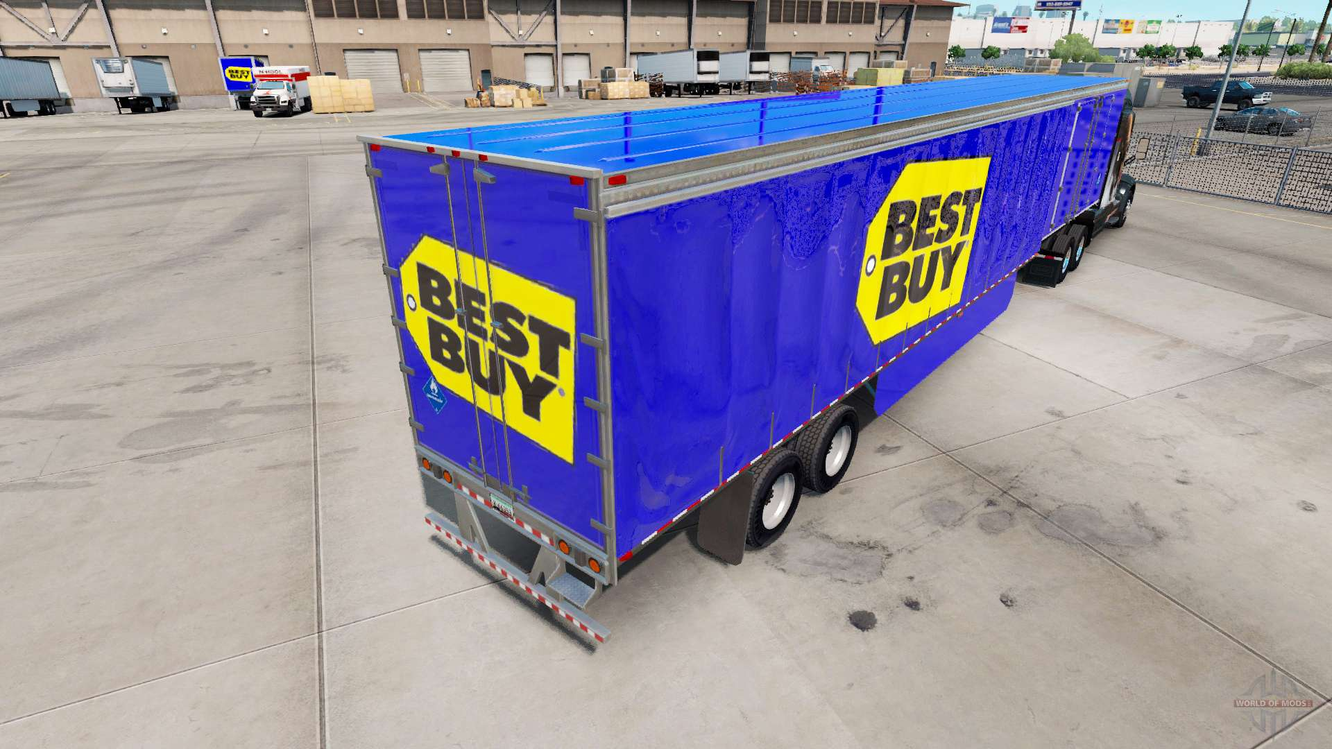 Skin Best Buy On Curtain Semi-trailer For American Truck