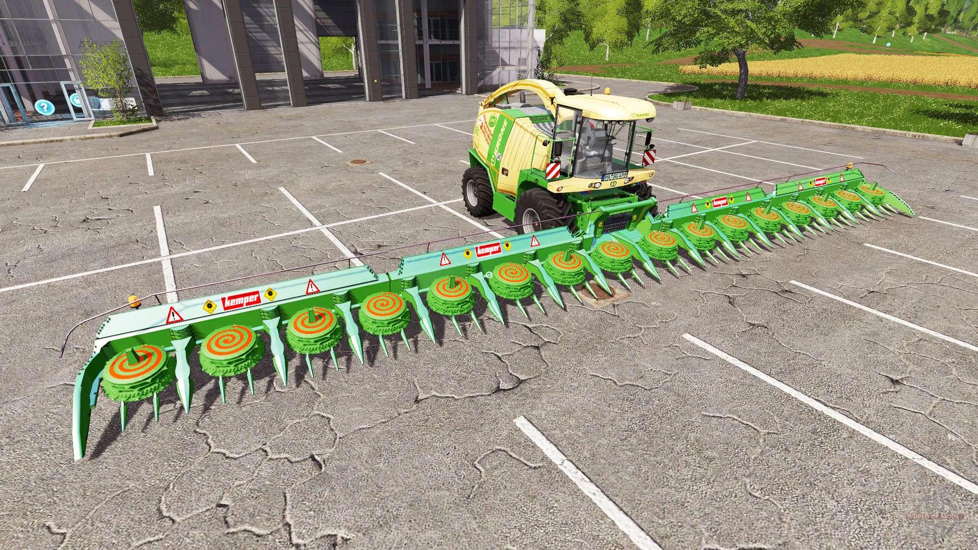 Harvester Kemper 2020 for Farming Simulator 17.