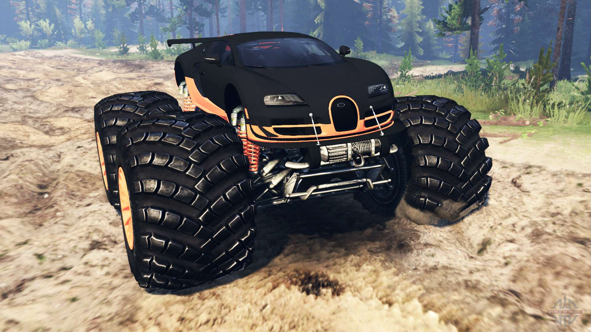 bugatti veyron ss monster truck for spin tires. Black Bedroom Furniture Sets. Home Design Ideas