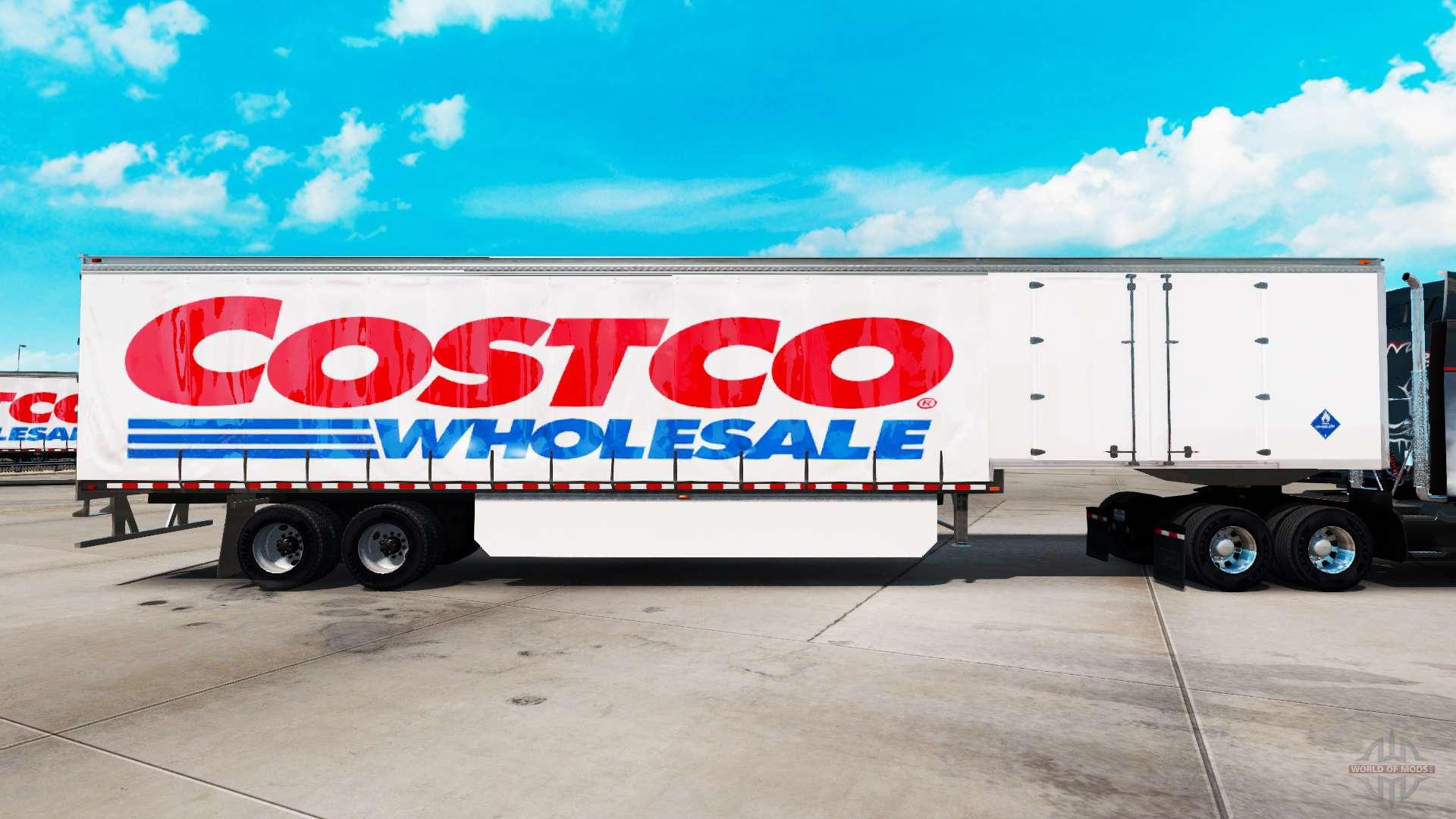 Skin at Costco Wholesale curtain semi trailer for American Truck
