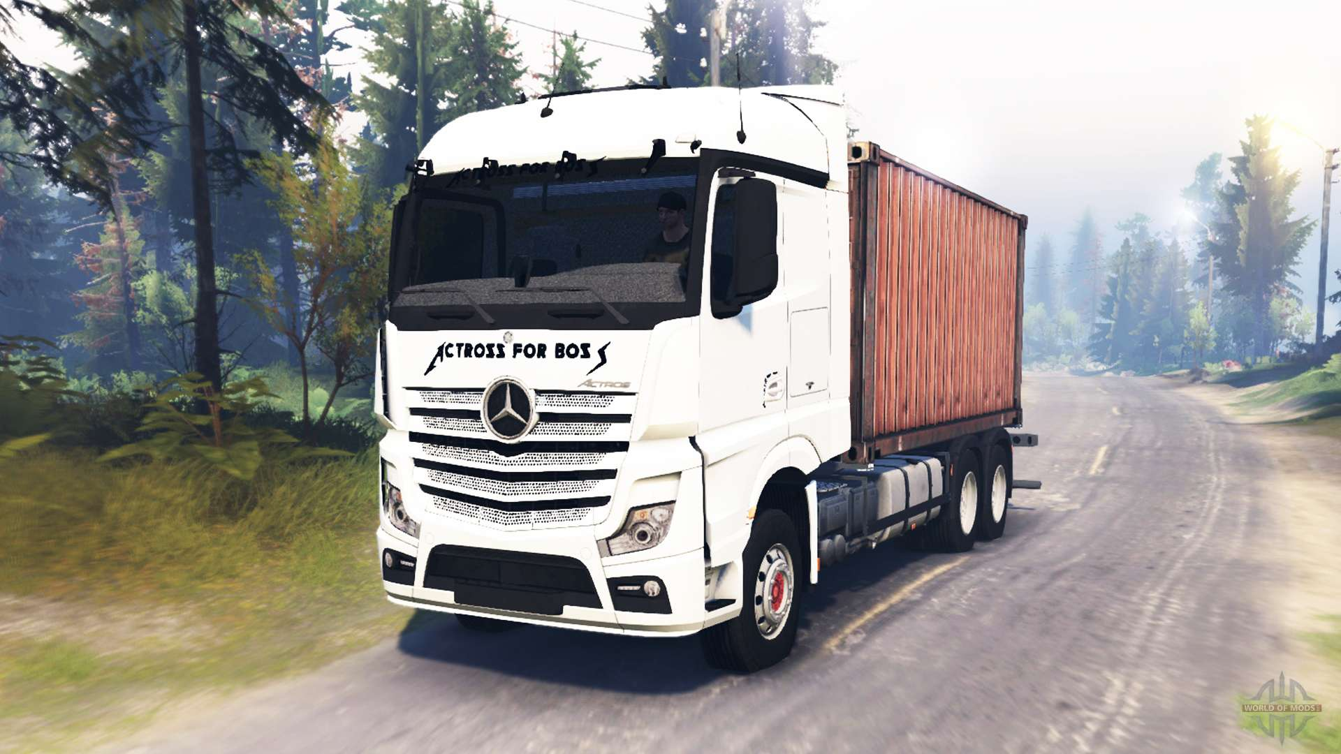 Mercedes benz actros mp4 for spin tires for Mercedes benz astros