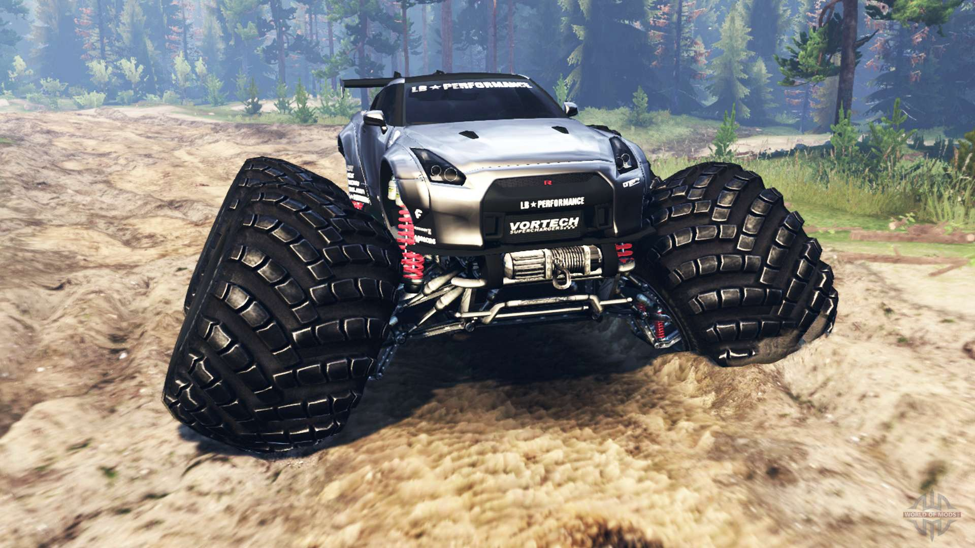 Nissan Gt R R35 Monster Truck For Spin Tires