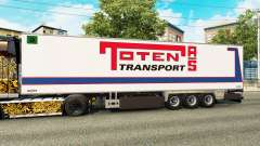 Semi-trailer refrigerator Chereau Toten Transpor