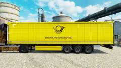 The skin of the Deutsche Bundespost for trailers