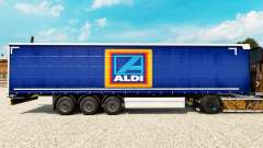 Skin Aldi on a curtain semi-trailer