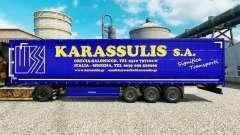 Skin Karassulis S. A. on semi-trailers