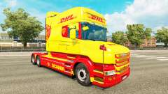 Skin DHL for Scania T truck