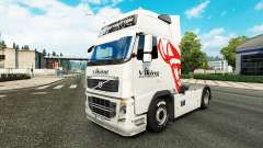 Viking Express skin for Volvo truck for Euro Truck Simulator 2