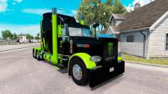 Skin Monster Energy Green on the truck Peterbilt
