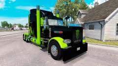 Skin Monster Energy Green on the truck Peterbilt