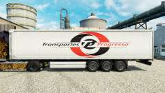 Skin Transportes Progresso on semi for Euro Truck Simulator 2