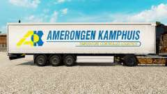 Skin Amerongen Kamphuis on a curtain semi-trailer for Euro Truck Simulator 2