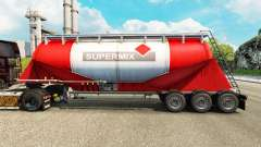 Skin Supermix cement semi-trailer