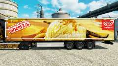 Langnese skin for trailers for Euro Truck Simulator 2