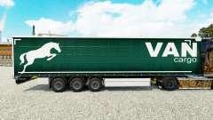 Skin on a curtain Cargo Van semi-trailer