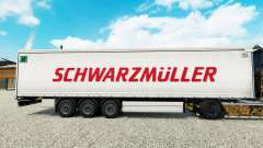 Skin Schwarzmuller semi-trailer on a curtain