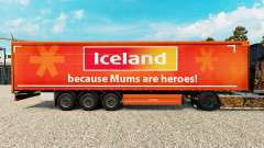 Skin IceLand on a curtain semi-trailer for Euro Truck Simulator 2
