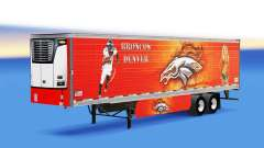 Skin Denver Bronco on refrigerated semi-trailer