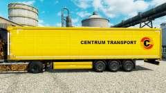 Skin Centrum Transport on semi-trailers