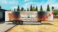 The semitrailer-the refrigerator World Cup 2014
